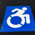 handicap ada symbol moving forward